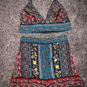 Free People Other - Colorful Printed Coord Set